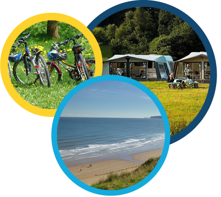 Bikes, caravans and beach