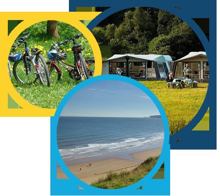 Bikes, caravans and beach