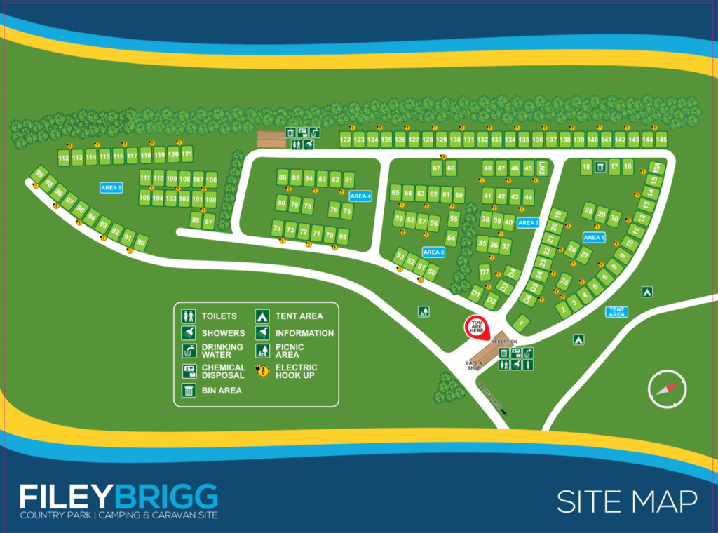 Filey Brigg site map