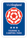 Visit England 3 star touring and camping park logo