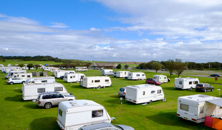 Caravans at Filey Brigg